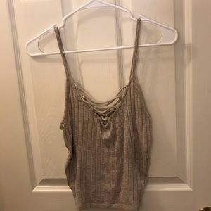 American Eagle lace up tank top